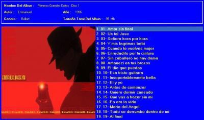Emmanuel - Sus Primeros Exitos (1996) CD1